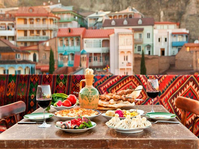 Грузия обед с видом