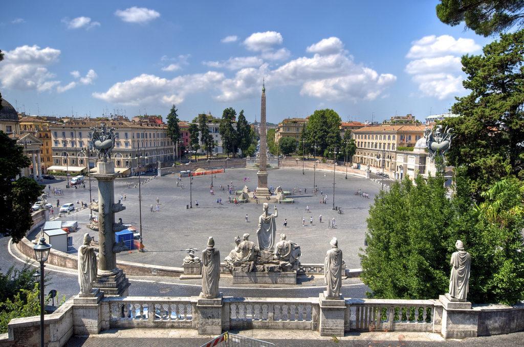площадь дель Пополо Рим