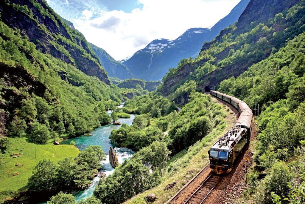 Норвегия железная дорога Фломсбана