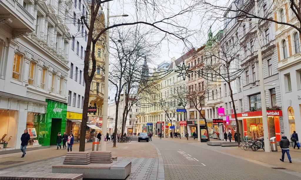 улица Мария Хильферштрассе в Вене