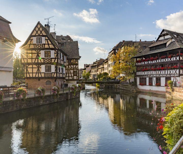 Вид на канал Страсбурга