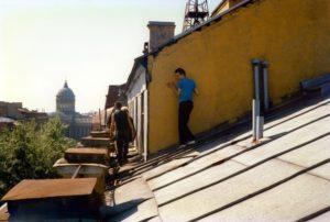 На крыше дома Бориса Гребенщикова