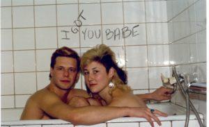 С БГ во время записи клипа «I got you baby»