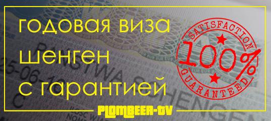 Годовая виза шенген с гарантией